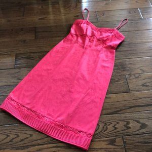J Crew Hot Pink Sun Dress Size 8
